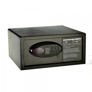Low Profile Steel Security Safe with Hotel-Style Digital Lock and keys for backup